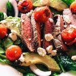 bison steak salad