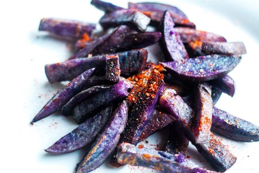 Baked Purple Fries