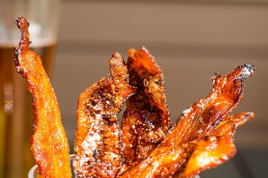sweet and spicy candied Bacon