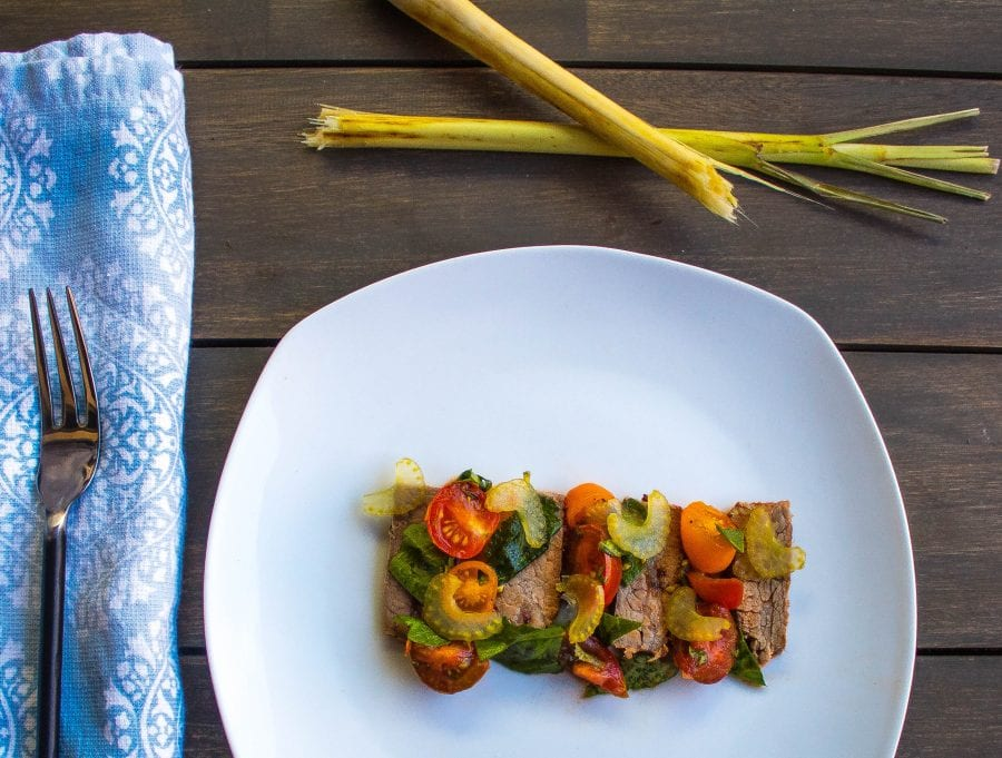 Flank Steak Salad with Lemongrass Pickled Celery