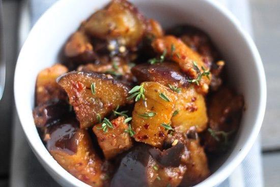 Stewed Eggplant with South African Braai Spice Rub