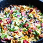 """find a way"" gameday pork nachos with ham hocks"