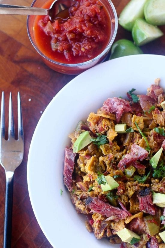 tex-mex migas breakfast with smoked brisket #migas #breakfast www.foodfidelity.com