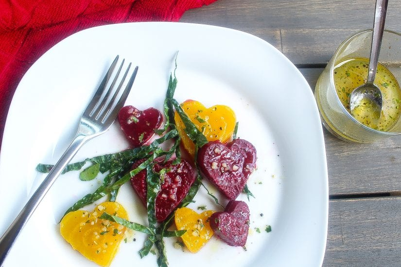 roasted beets salad with kale and vinaigrette #beets #salad www.foodfidelity.com