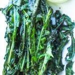 grilled bitter greens on a platter