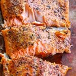 Smoked trout with course dry rub