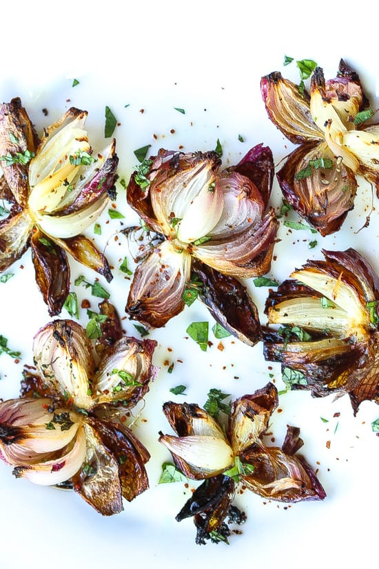 roasted red onion flowers