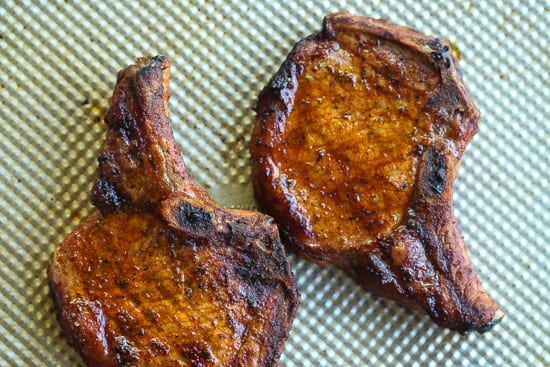 grilled puerto rican pork chops