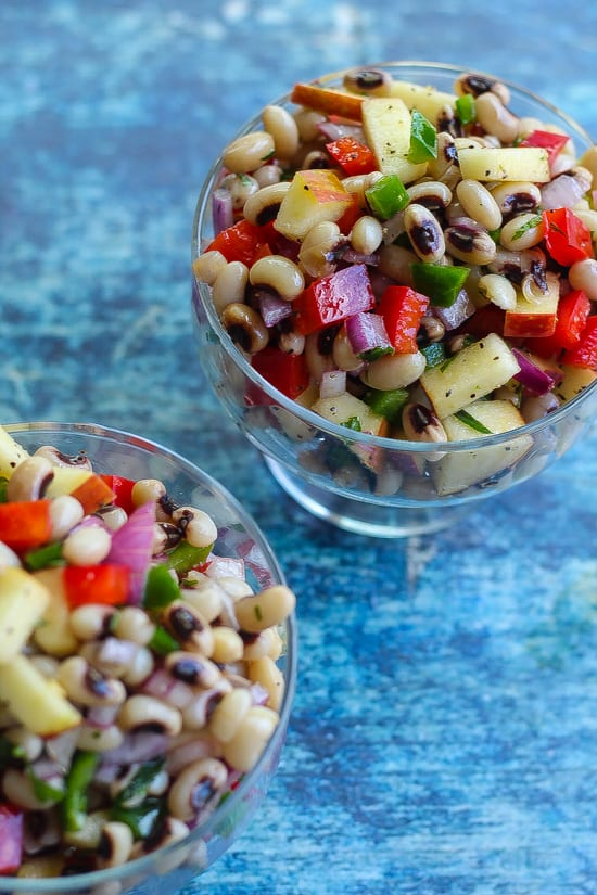 black-eyed pea salad in a bowl