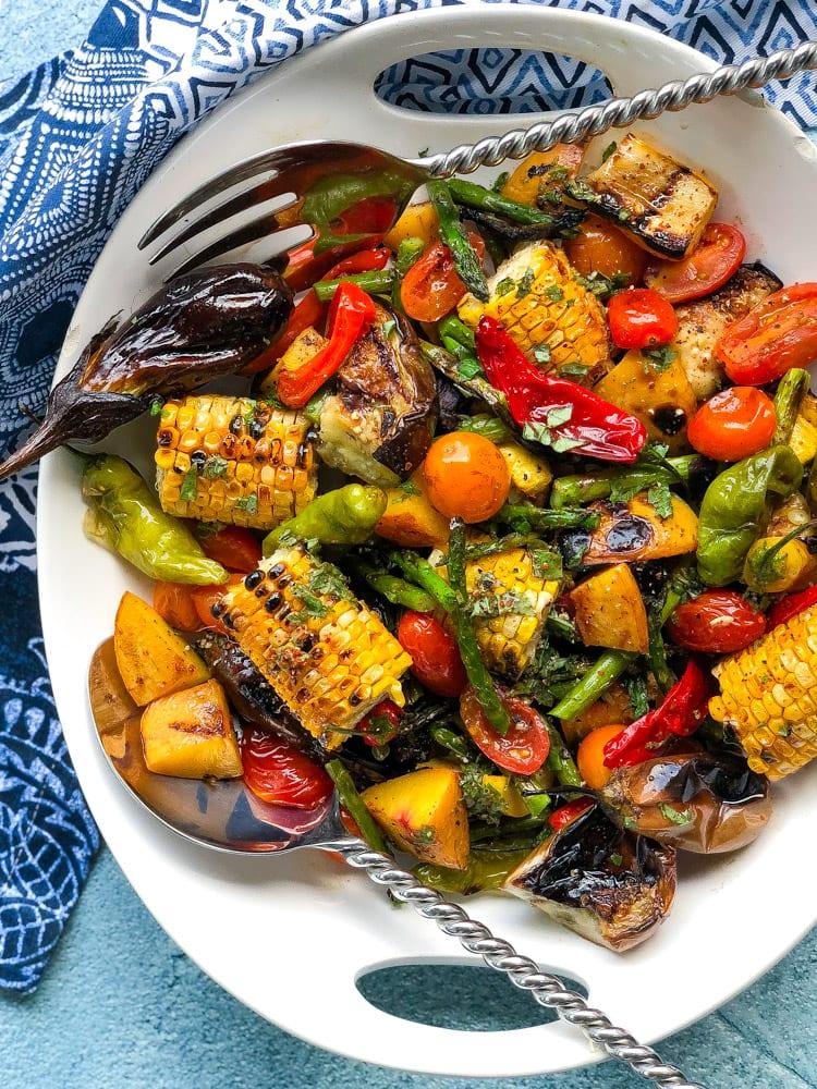 grilled vegetable salad with citrus herb vinaigrette