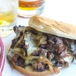 braised beef neck bones sandwich