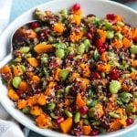 """Sunny Duet"" Quick and Easy Vegan Quinoa Salad with Pomegranate"