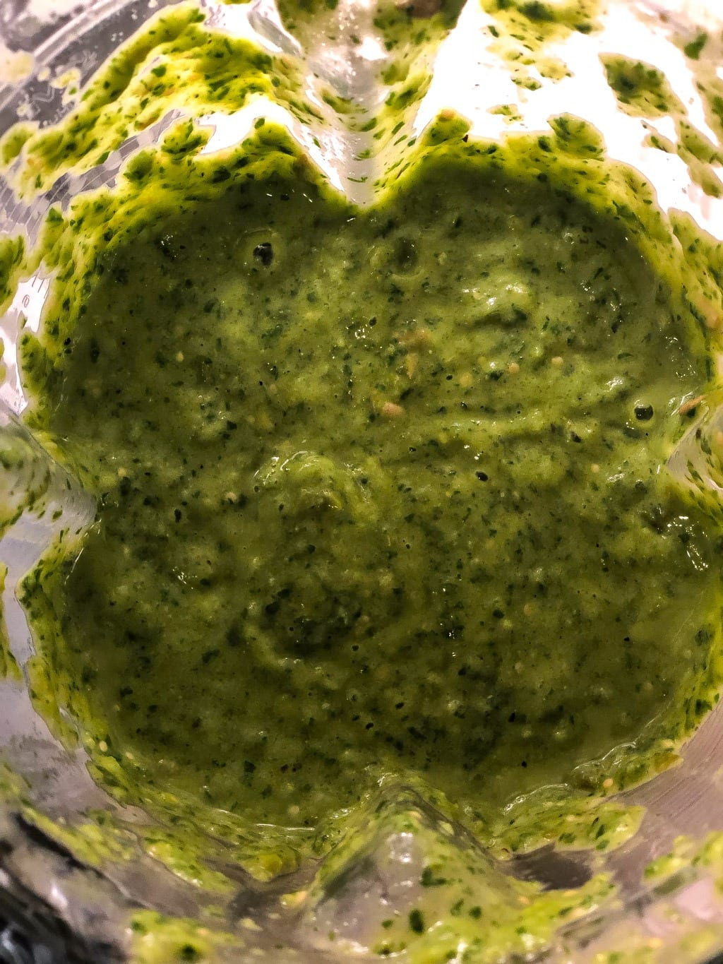 healthy collard greens recipe for salsa verde in a large jar