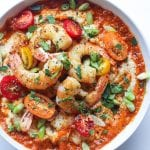 Southern Shrimp and Grits with Red Pepper Gravy