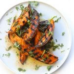 """A Night In Tunisia"" grilled sweet potato wedges"