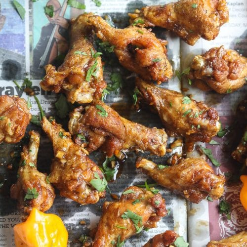 """Anotherloverholenyohead"" Asian Jerk Chicken Wings"