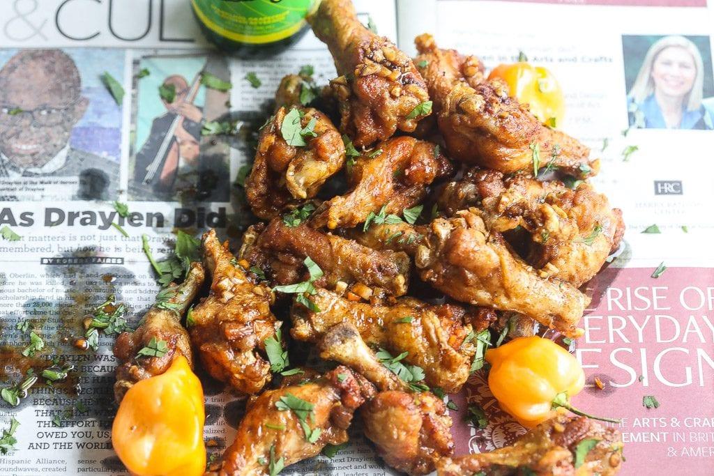 sticky Asian Jerk chicken wings