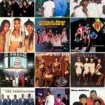 R&b music groups collage of artists.