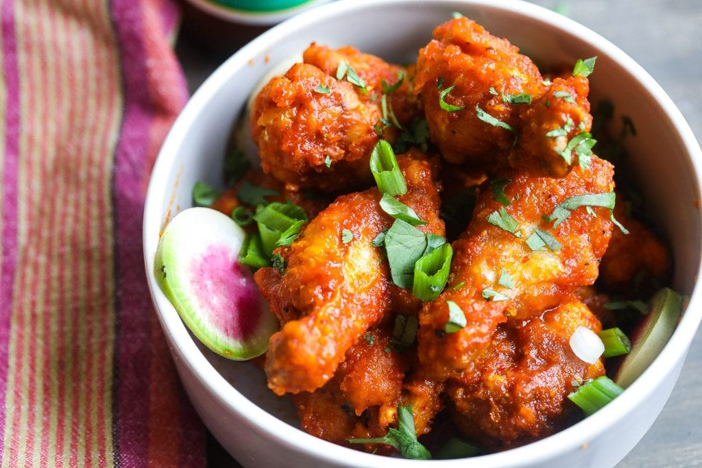 spicy chicken wings in harissa sauce