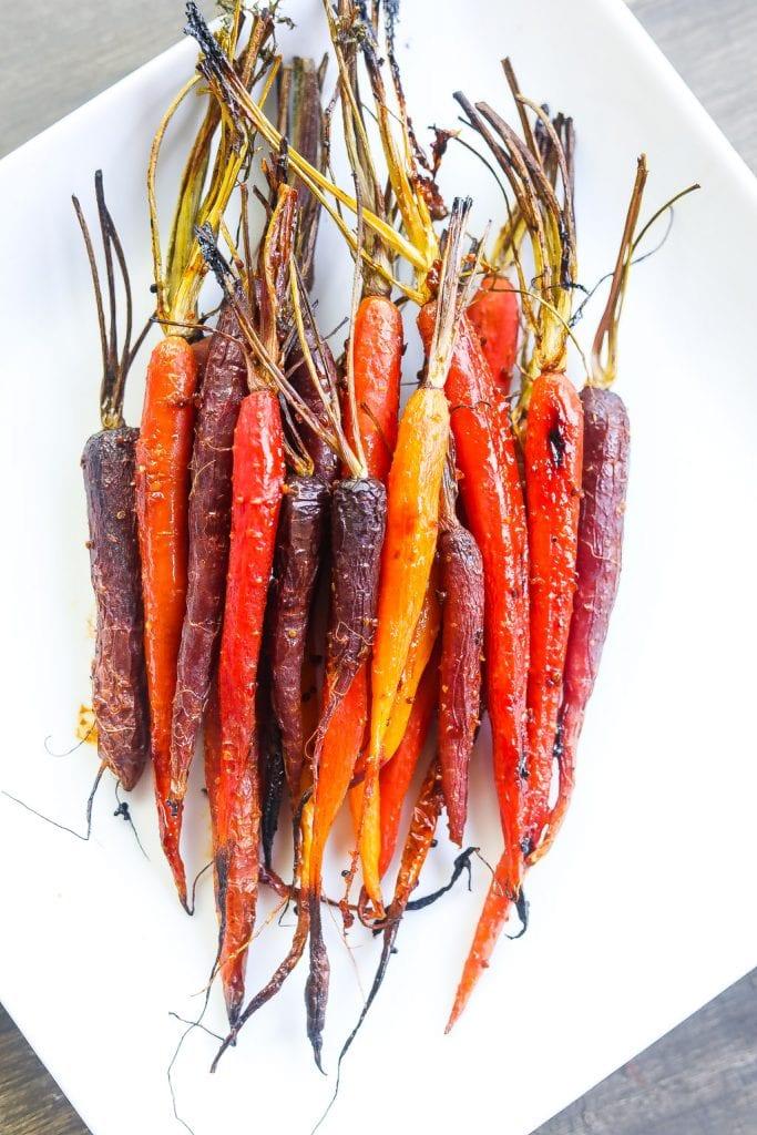 harissa glazed carrots